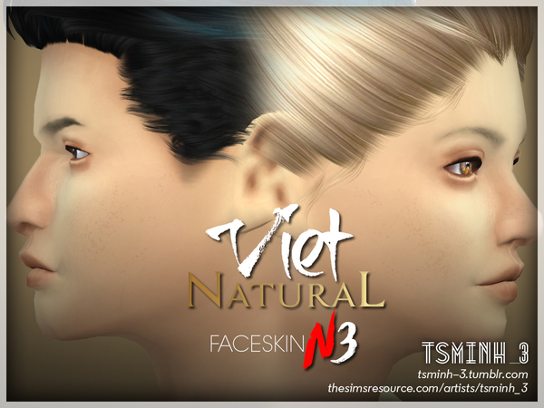 VIET Natural Face Skin by tsminh 3 at TSR image 3923 Sims 4 Updates