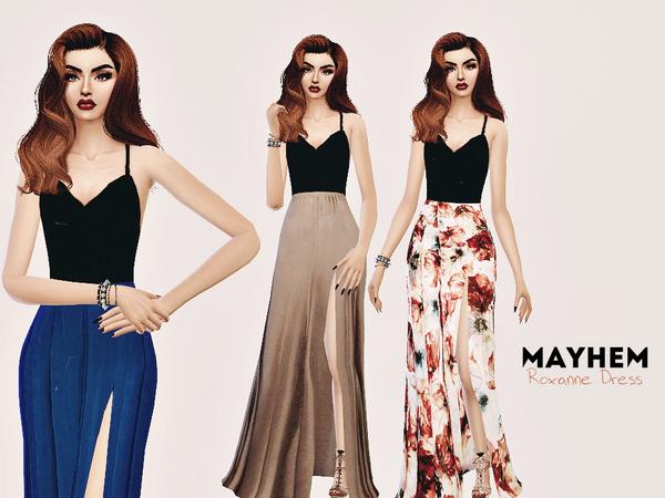 Sims 4 Roxanne Dress by NataliMayhem at TSR