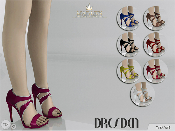 Sims 4 Madlen Dresden Shoes by MJ95 at TSR