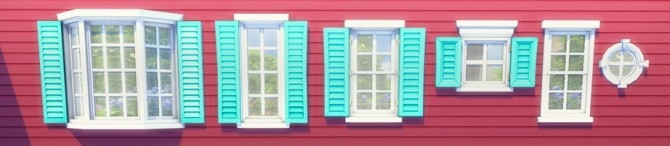 Windows + Doors + Planter Box Recolors at Pixelsimdreams image 4020 670x146 Sims 4 Updates