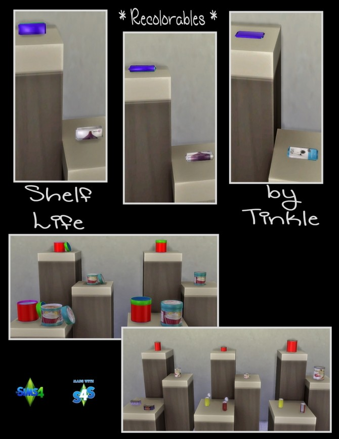 Shelf Life 57 New Meshes at Tinkerings by Tinkle image 4026 670x867 Sims 4 Updates