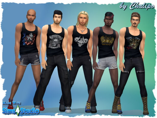 Sims 4 WhirlPools, Shirts & more by Chalipo at All 4 Sims