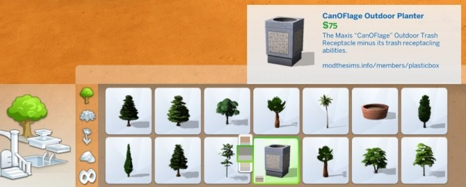 Sims 4 CanOFlage Outdoor Planter by plasticbox at Mod The Sims