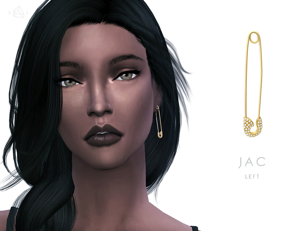 Sims 4 Safety Pin Earring & Necklace Set JAC by starlord at TSR