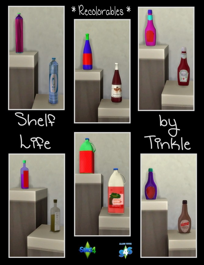 Shelf Life 57 New Meshes at Tinkerings by Tinkle image 4130 670x867 Sims 4 Updates