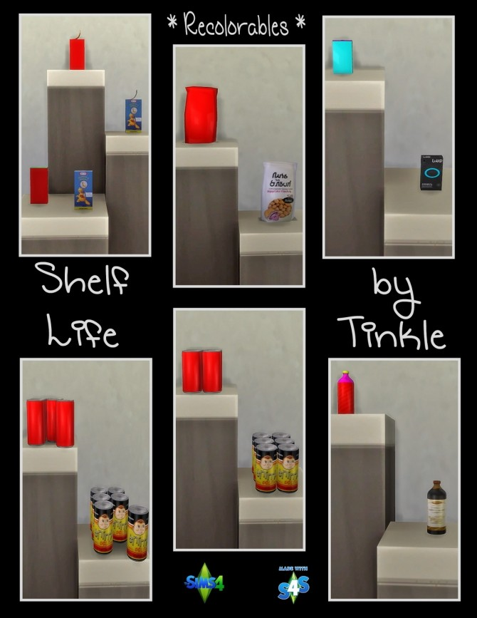 Shelf Life 57 New Meshes at Tinkerings by Tinkle image 4326 670x867 Sims 4 Updates
