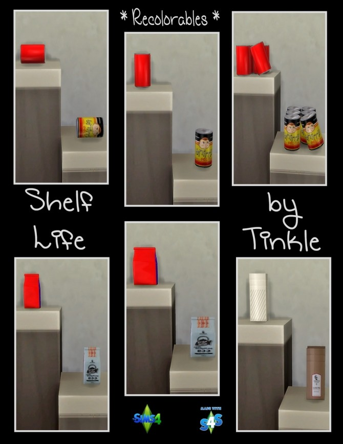 Shelf Life 57 New Meshes at Tinkerings by Tinkle image 4425 670x867 Sims 4 Updates