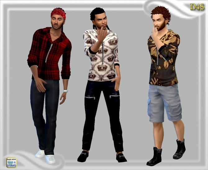 Males zip hoodie at Dreaming 4 Sims image 448 670x548 Sims 4 Updates
