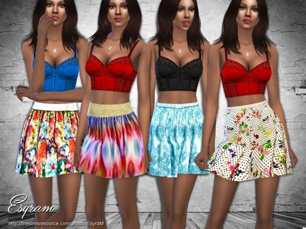 Sims 4 Garten Party Skirt by EsyraM at TSR