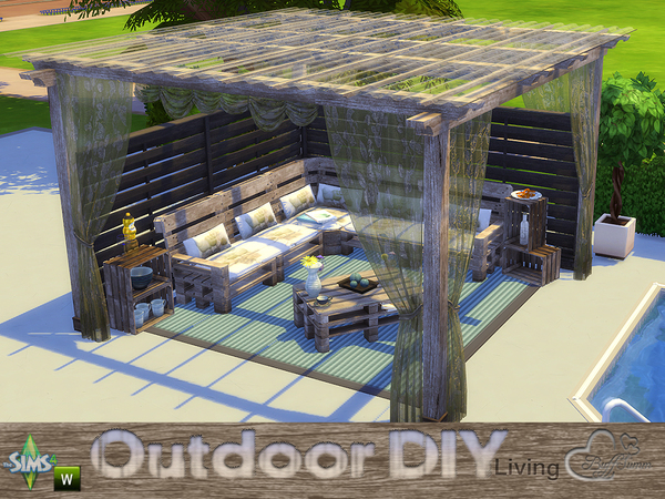 DIY Outdoor Living by BuffSumm at TSR image 4520 Sims 4 Updates