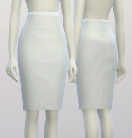 Basic Pencil Skirt At Rusty Nail 187 Sims 4 Updates