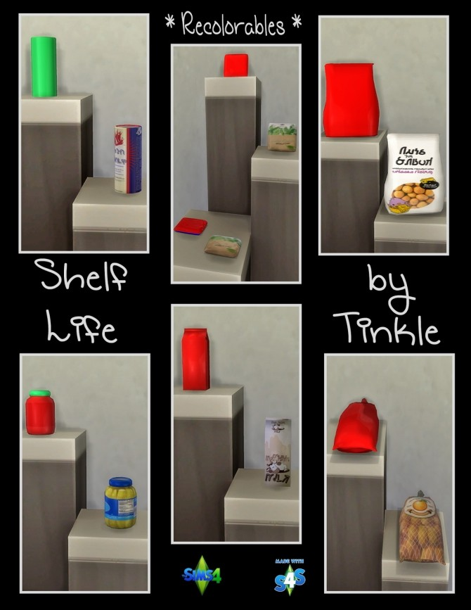 Shelf Life 57 New Meshes at Tinkerings by Tinkle image 4525 670x867 Sims 4 Updates
