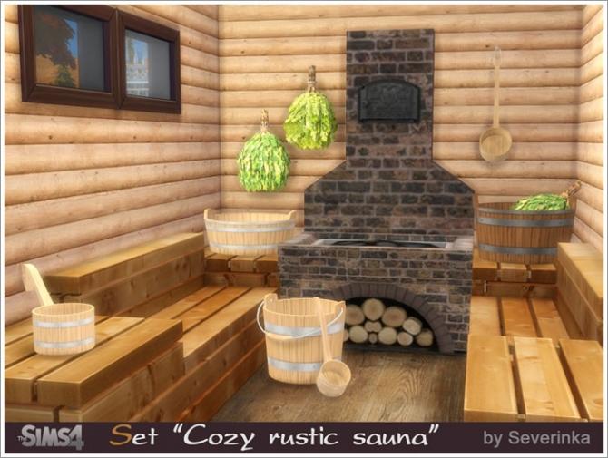Cozy Rustic Sauna At Sims By Severinka 187 Sims 4 Updates