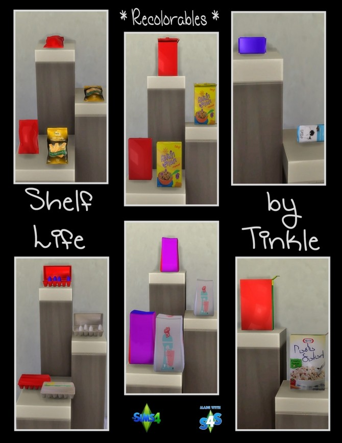 Shelf Life 57 New Meshes at Tinkerings by Tinkle image 4626 670x867 Sims 4 Updates