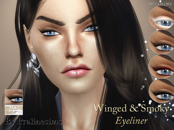 Winged & Smoky Eyeliner by Pralinesims at TSR image 470 Sims 4 Updates
