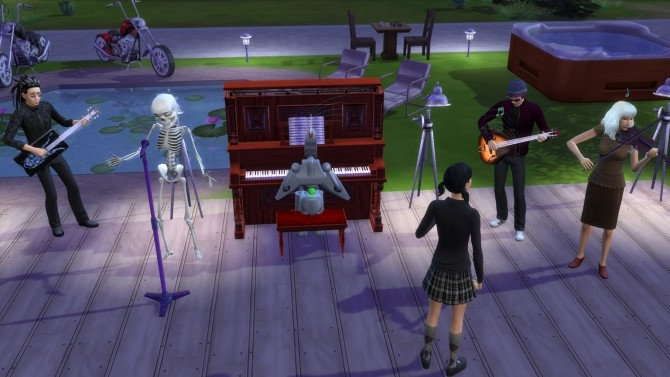 Sims 4 Alternative Microphone + Stand (Mirror Functions) by Esmeralda at Mod The Sims