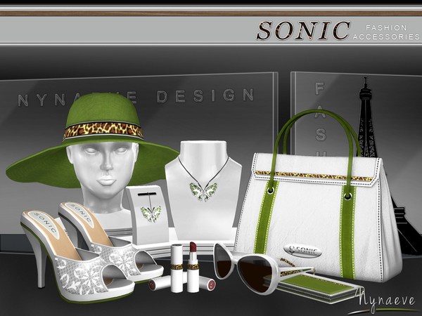 Sims 4 Sonic Fashion Accessories by NynaeveDesign at TSR
