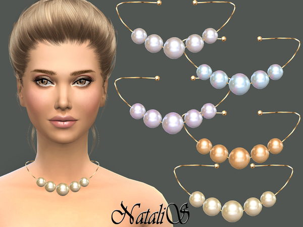 Faux pearl necklace by NataliS at TSR image 490 Sims 4 Updates