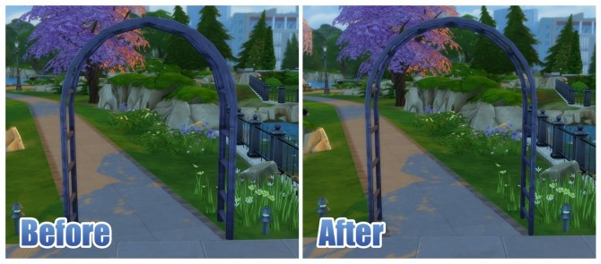 Sims 4 Metal Garden Arch by Menaceman44 at Mod The Sims