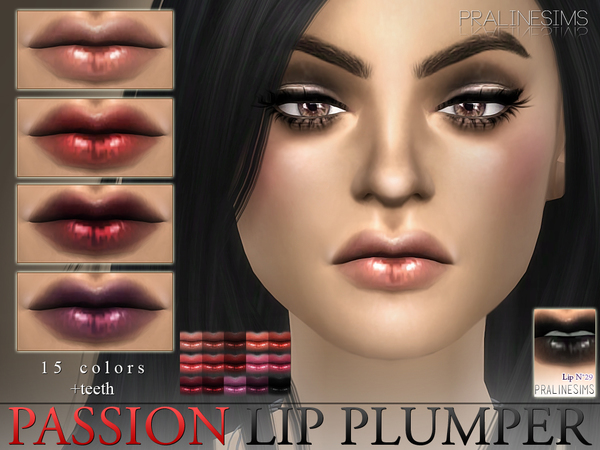 Sims 4 Passion Lip Plumper N29 + Teeth by Pralinesims at TSR