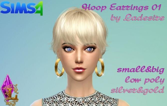 Sims 4 Hoop Earrings 01 at Ladesire