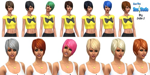 Sims 4 Pixie Hair Edited at Julietoon – Julie J