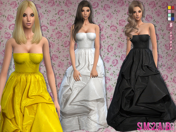 Satin gown by sims2fanbg at TSR image 5224 Sims 4 Updates