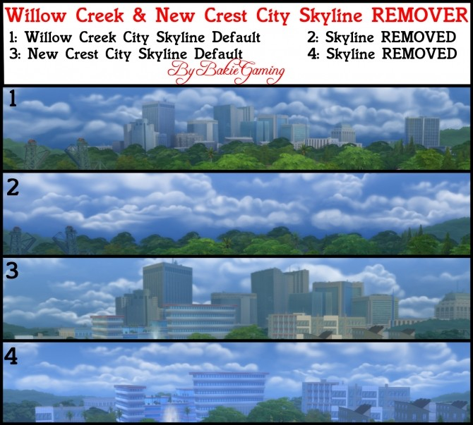 Sims 4 City Skyline Backdrop REMOVER (Override) by Bakie at Mod The Sims