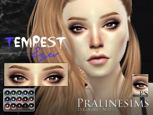 Sims 4 Tempest Eyes by Pralinesims at TSR