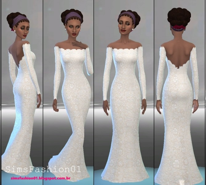 Embroidery Wedding Dress at Sims Fashion01 image 529 670x604 Sims 4 Updates