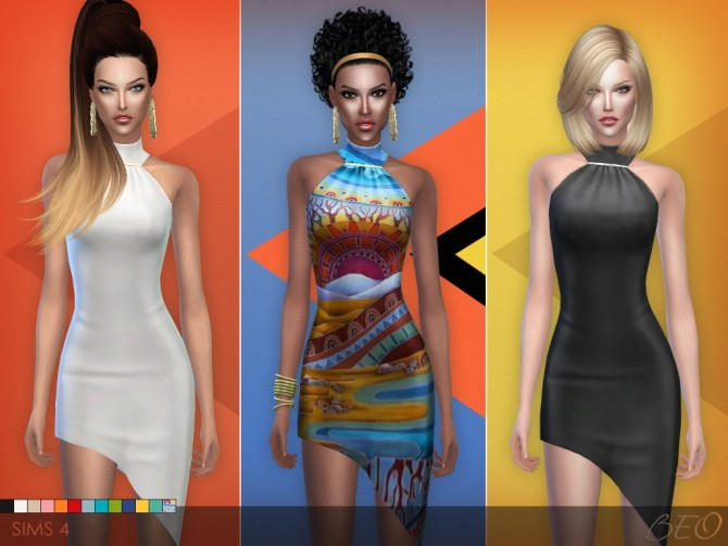 Sims 4 Cocktail dress 01 at BEO Creations