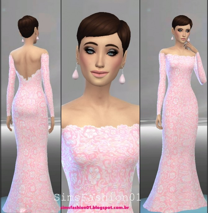 Embroidery Wedding Dress at Sims Fashion01 image 547 670x688 Sims 4 Updates
