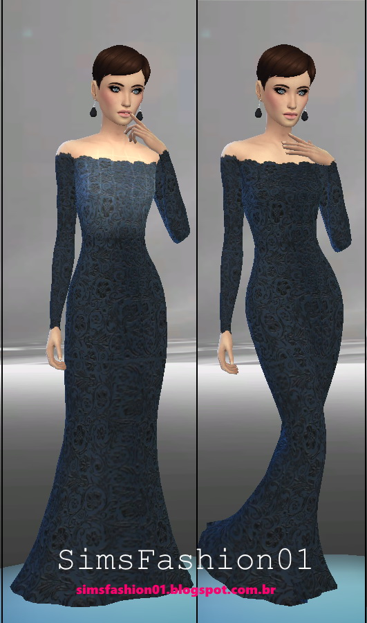 Embroidery Wedding Dress at Sims Fashion01 image 557 Sims 4 Updates