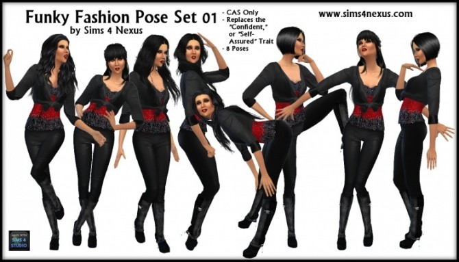 Funky Fashion Pose Set 01 at Sims 4 Nexus image 5621 670x383 Sims 4 Updates