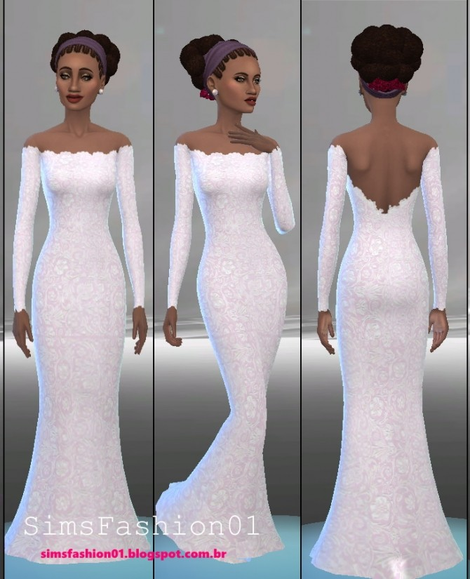 Embroidery Wedding Dress at Sims Fashion01 image 567 670x825 Sims 4 Updates
