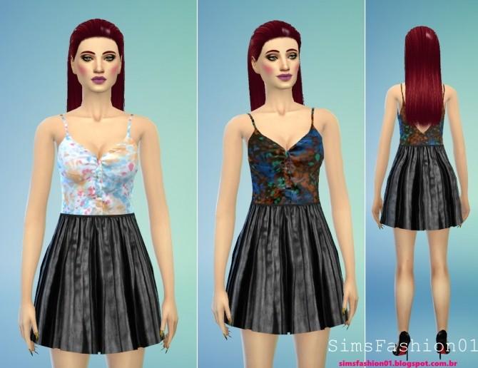 Sims 4 Top and Skirt at Sims Fashion01