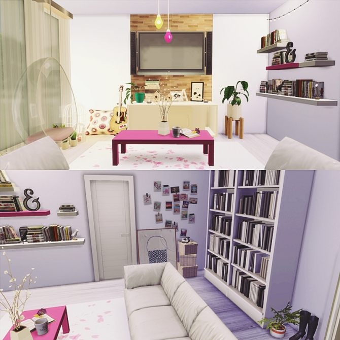 The cute living room at mony sims sims 4 updates for Cute living room sets