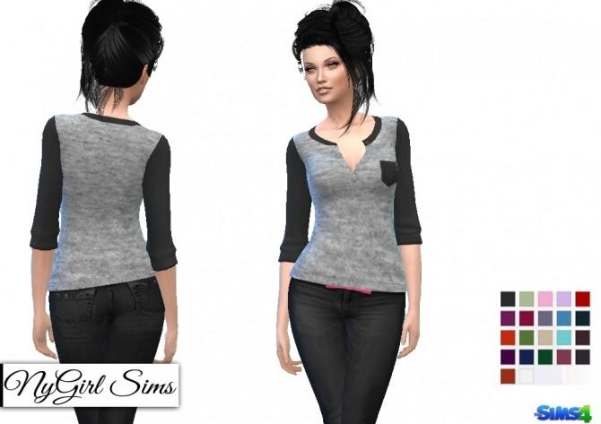 Gray Jersey Knit Pocket At Nygirl Sims 187 Sims 4 Updates