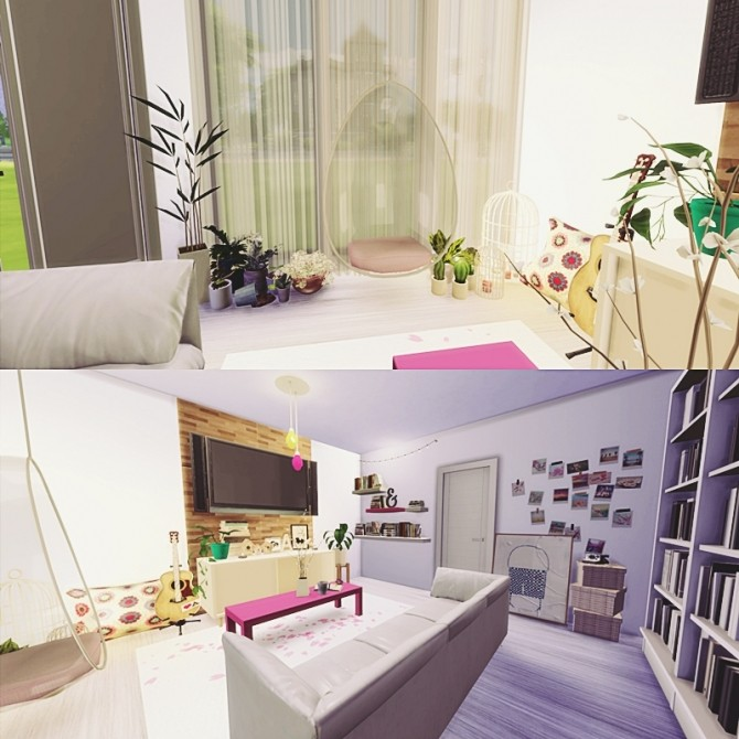 the cute living room at mony sims