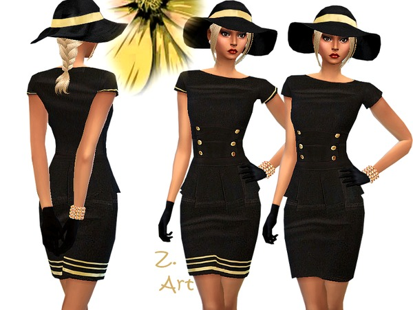 Sims 4 Black Nobleness outfit by Zuckerschnute20 at TSR