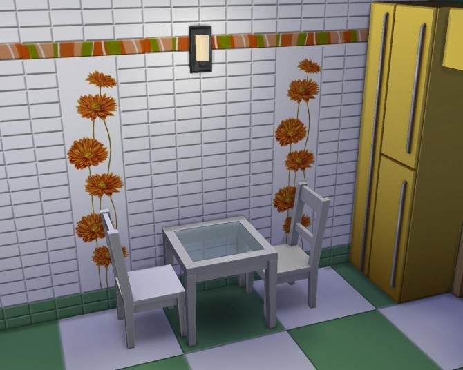 Sunflower tile set by AdeLanaSP at Mod The Sims image 60 670x536 Sims 4 Updates