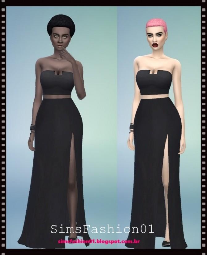 Long Slit Dress At Sims Fashion01 187 Sims 4 Updates