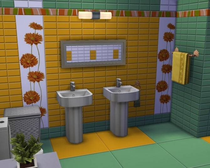 Sunflower tile set by AdeLanaSP at Mod The Sims image 61 670x536 Sims 4 Updates