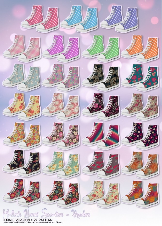 Sims 4 Madlens sneakers recolors at Aveira Sims 4