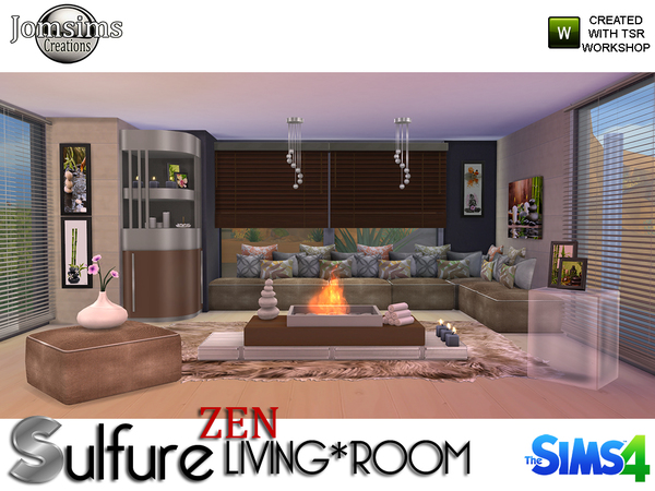 sulfure zen living room by jomsims at tsr 187 sims 4 updates urban zen living room furniture set trend home design