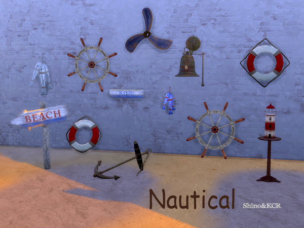 Nautical decoset by ShinoKCR at TSR image 615 Sims 4 Updates