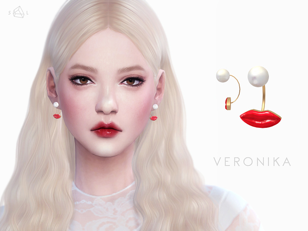 Sims 4 VERONIKA Earrings by starlord at TSR