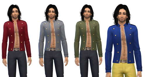Male Military Jacket Bare Chest at Julietoon – Julie J image 628 Sims 4 Updates