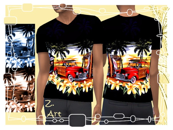 Aloha tee by Zuckerschnute20 at TSR image 629 Sims 4 Updates