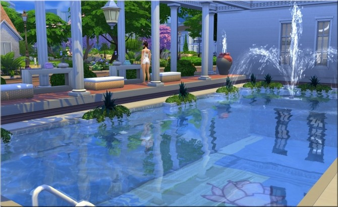 Sims 4 Roman Baths by Moni at ARDA
